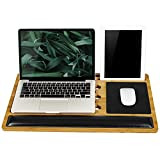 LapGear BamBoard Pro Lap Desk with Wrist Rest, Mouse Pad, and Phone Holder - Natural Bamboo - Fits...