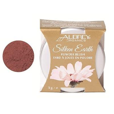 Aubrey Organics, Silken Earth, Powder Blush, Warmed Raisin, 3 g