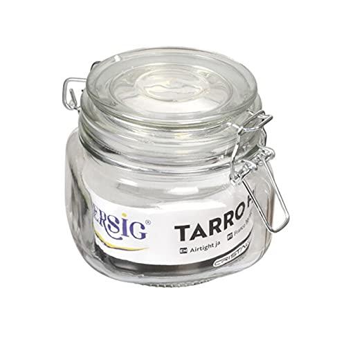 Hersig - Tarro de cristal hermético, bote de cristal con tapa a...