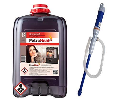 Petroleum 20 L Liter Kanister Petroleumofen Heizofen Petroleumpumpe elektrische Pumpe batteriebetrieben