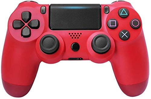 Mando Generico Compatible Para PS4 ROJO con Cable USB Vibracion Dual DoubleShock 4 Play Station 4 Play 4 Gamepad Para Consola
