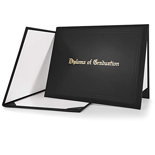 GraduationMall Imprinted Diploma Cover Black 8 1/2 x 11 inches