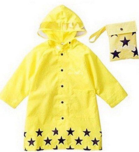 SKL – Unisex per bambini, impermeabile, alla moda Cartoon impermeabile per ragazzo o ragazza, 4 misure, 3 colori (S, Yellow)