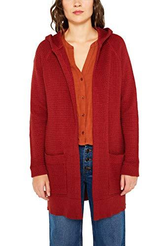 edc by ESPRIT Damen 089Cc1I013 Strickjacke, Orange (Terracotta 5 809), Large (Herstellergröße: L)