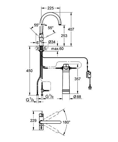 GROHE Blue Pure Küchenarmatur mit Filterfunktion, U-Auslauf 31299001 - 2