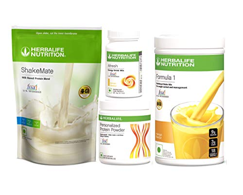 HERBALIFE NUTRITION COMBO SHAKEMATE WITH CFORMULA ONE MANGO, PPP200, AFRESH LEMON
