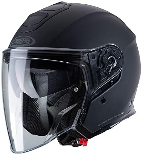 Caberg Unisex FLYON Motorradhelm, Mattschwarz, L