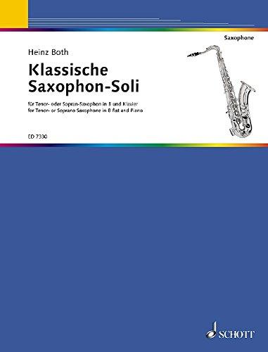 Klassische Saxophon-Soli: Tenor- oder Sopran-Saxophon und Klavier.