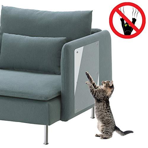 Rasguño de Gato Protectores de Muebles(4 Piezas, 46cm x 20.5cm), Protector de Sofá contra Arañazos de Gato, Cinta Autoadhesivas con Pasadores Retorcidos - para Detener Gatos de Destruir Muebles