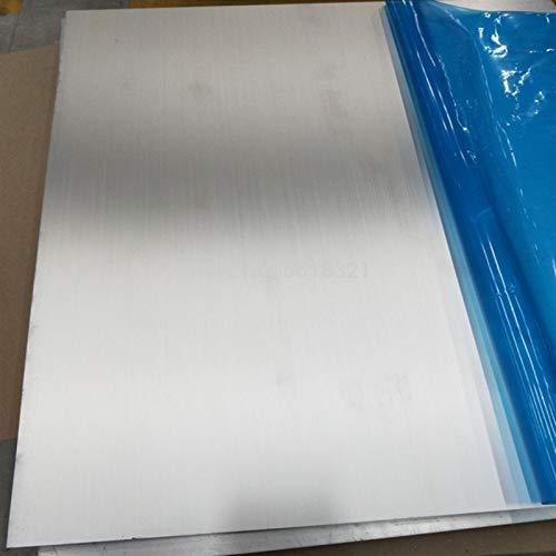 Geeyu ZHaonan-Placa metálica 5052 Placa DE Aluminio PEQUEÑA, 100 * 100mm 200 * 200mm Placa de Aluminio de 1/2 / 3 / 5mm de Placa de Aluminio con película Protectora, Toma de Tierra
