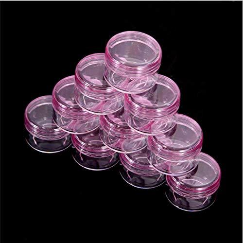 LGYLucky Visage de boîte de Maquillage cosmétique Portable Ombre à paupières Vide Pot en Verre de 50pcs boîte de conteneur de crème supprime Bouteilles Rosa
