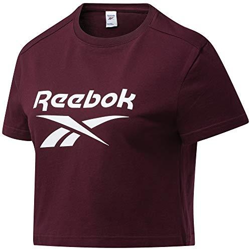Reebok CL F Big Logo tee Camiseta, Mujer, Granat, S