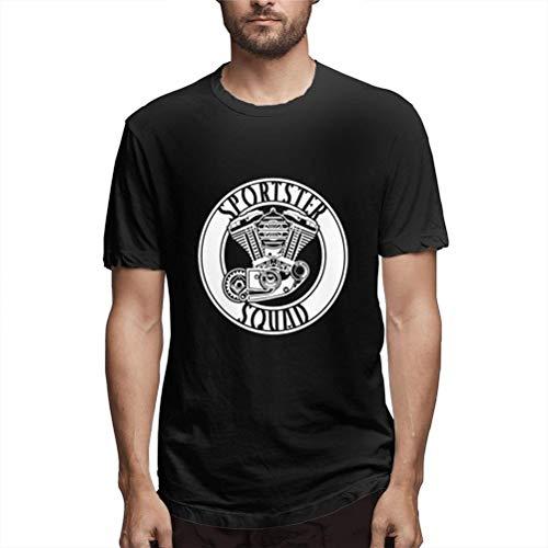 Sportster Squad Klassisches Herren-Lauf-Shirt, kurzärmelig, Schwarz Gr. M, Schwarz