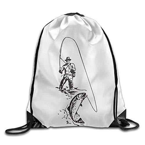 fenrris65 Mochila con cordón para pesca con mosca, paquete A4683
