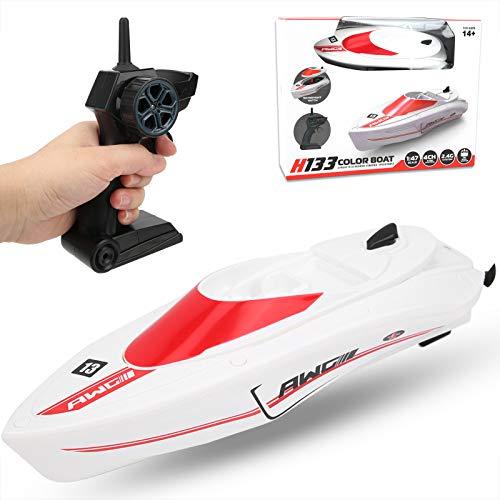 Jeanoko Barco con mando a distancia eléctrico Racing Boat Kids Lakes