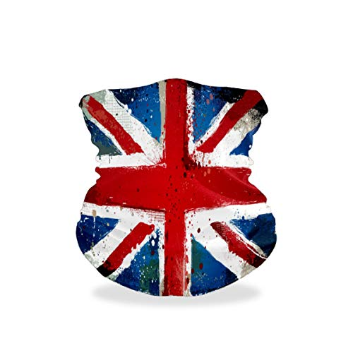 British Flag Outdoor Multifunctional Sports Magic Seamless Scarf Headwear Elastic Headband Bandana UV Resistence Sport Headwear Turban Wide Headscarves Balaclava Tube for Camping,Cycling