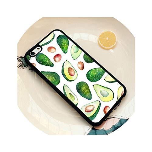Netter Avocado-Frucht Mobile für iPhone 4S Ich 5C 5S 5 6 7 8 6S Plus X Xr Xs Max Black Soft Shell-Telefon-Kasten-Silikon-Gummi, Gold, für iPhone 5C
