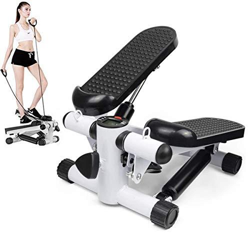 uyoyous 健康ステッパー 室内運動器具 ステップ台踏み台昇降 静音 有酸素運動 フィットネス 男女兼用に最適 健康器具「引っ張り縄 付き」