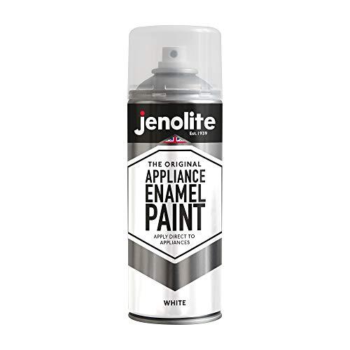 JENOLITE Appliance Enamel Paint - White - 400ml (Refresh & Restore Fridges, Freezer, Washing Machines, Etc)