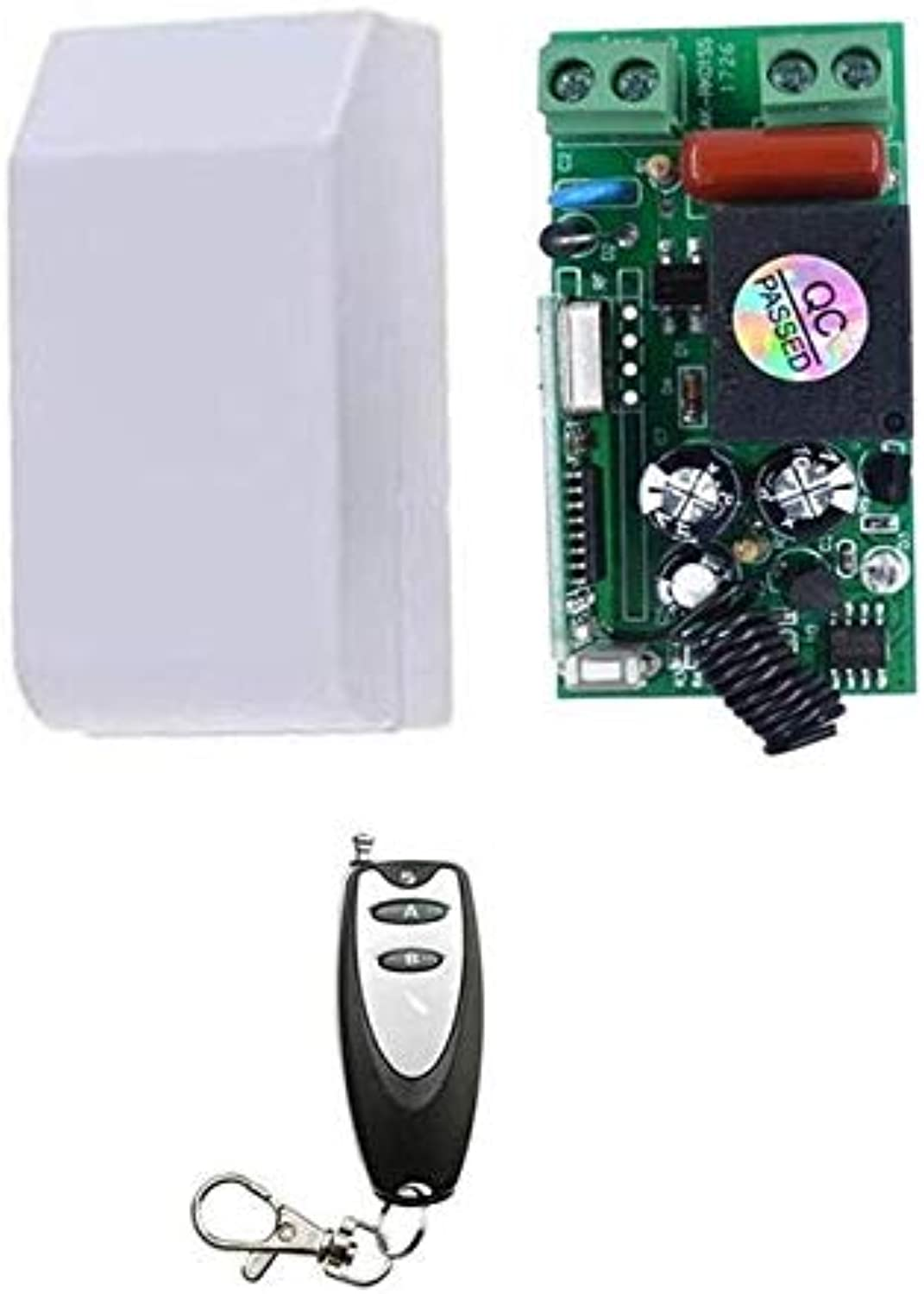 Calvas Universal AC 220 V 1CH Wireless Remote Control Switch System Relay Receiver Learning Remote Control 315M 433.92M  (color  add 1pcs Remote)