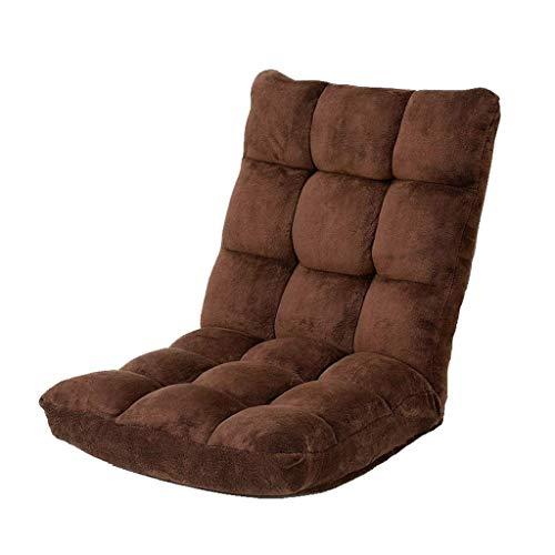 Boden Stuhl, faules Sofa Tatami Schlafsofa Stuhl Erkerfenster Stuhl Bodenstuhl 14-Gang-Stuhl (Color : Brown)