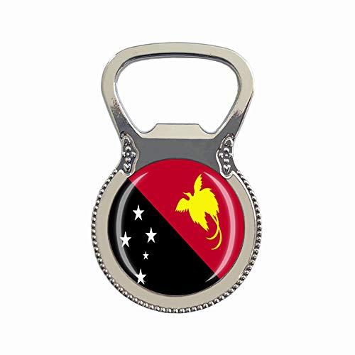 Papua New Guinea Flagge Bierflaschenöffner Kühlschrank Magnet Metall Glas Kristall Reise Souvenir Geschenk Heimdekoration