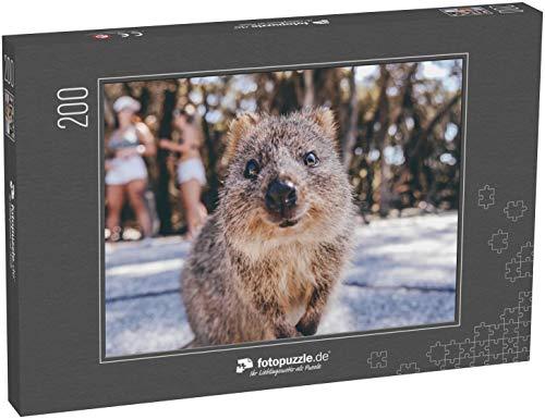 Puzzle 200 Teile Porträt eines lächelnden Quokka auf Rottnest Island, Perth, Australien - Klassische Puzzle, 1000/200/2000 Teile, in edler Motiv-Schachtel, Fotopuzzle-Kollektion 'Tiere'