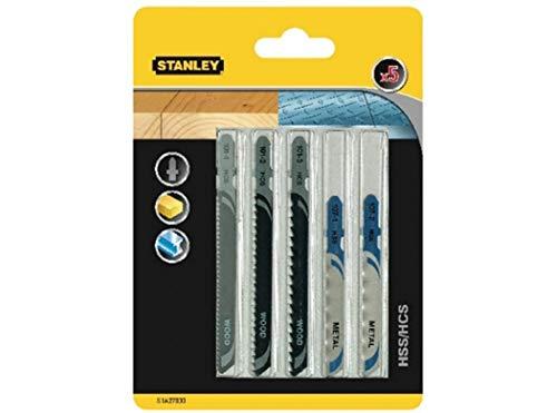 Stanley STA27030 T-messen, voor decoupeerzaag, zwart, 5-delige set