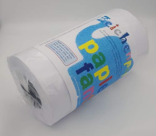 Zeichenpapier auf Rolle von papierfant.de - Länge: 175 Meter - Breite: 60cm - Jumborolle - DIN A2 - weiß - glatt - matt - Malpapier