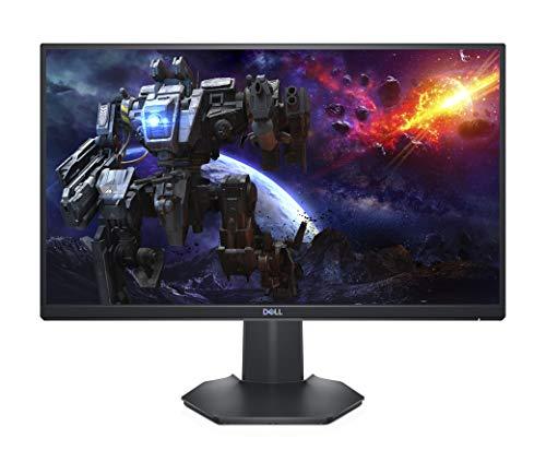 Dell S2421HGF, 24 Zoll, Gaming Monitor, Full HD 1920 x 1080, 144Hz, TN entspiegelt, 16:9, FreeSync, 1ms, höhenverstellbar/neigbar, Lautsprecher, VESA, DisplayPort, HDMI, schwarz/silber
