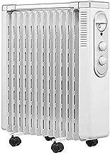 BUYAOBIAOXL Radiador de Aceite Radiadores Aceite Radiador Relleno Calentador Seguridad Cierre silencioso Portátil Radiante Calentador de Calor Radiante Calentador Radiante con Estante de Secado