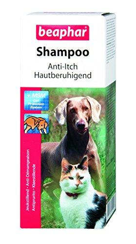 Shampoo Hautberuhigendfür Hunde & Katzen | Hundeshampoo für empfindliche Haut | Katzenshampoo mit MSM | pH neutral | Mit Aloe Vera | 200 ml