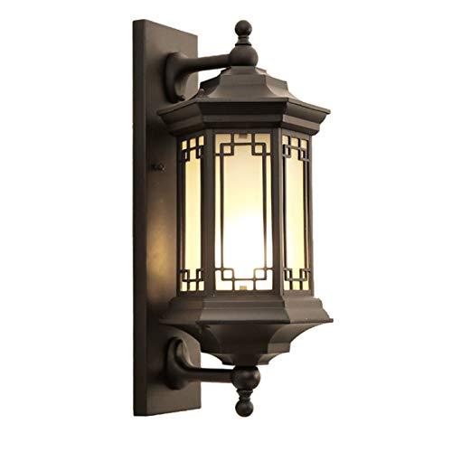WYBFZTT-188 Lámpara de Pared de jardín al Aire Libre Lámpara de Pared de jardín al Aire Libre Impermeable Lámpara de Pared de jardín Luces de jardín de Estilo balcón al Aire Libre