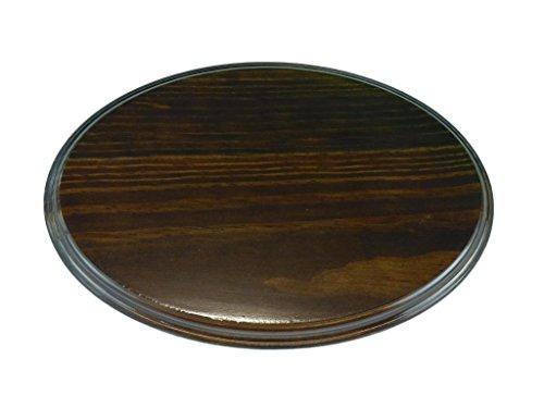 Greca Peanas ovaladas barnizadas. Varias Medidas. En Pino Macizo, Barniz Nogal. (21 * 14 cms)