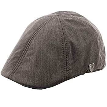 Epoch hats Men s 6 Panel Linen Duckbill Ivy Hat  S/M A Gray