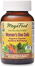 MegaFood, Women's One Daily, Daily Multivitamin and Mineral Dietary Supplement with Vitamins C, D, Folate and Iron, Non-GMO, Vegetarian, 30 Tablets