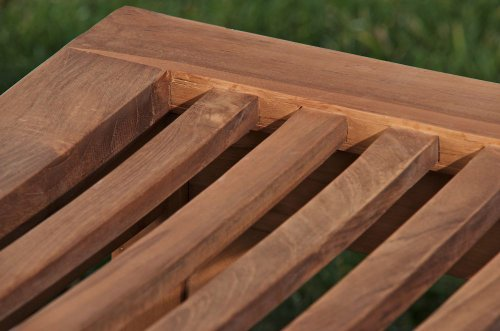 CLP Teakholz Garten-Bank HAVANA V2 ohne Lehne, Teak-Holz massiv (bis zu 8 Größen wählbar) 240 x 45 x 45 cm - 5
