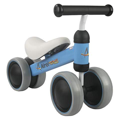 Airel Triciclo Sin Pedales | Correpasillos Bebé | Triciclo Sin Pedales Bebé | Triciclo Sin Pedales Plegable | Triciclo Sin Pedales Infantil | De 18 a 24 Meses (Azul Marino)