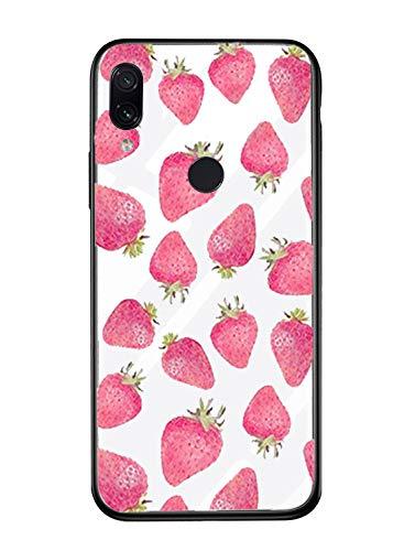 Alsoar Case ersatz für Xiaomi Mi 6 Plus Hülle,Personalisiert Hülle Kompatibel mit Mi 6 Plus,Ultra Dünn Silikon TPU und Gehärtetes Glas Zurück Design Tasche Schale Kratzfeste Schutzhülle (Erdbeere)