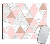 ピンクおよび金の大理石のマウスパッドの長方形の滑り止めのゴム製マウスパッド