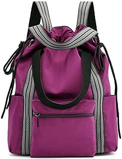 TOOGOO Women'S Nylon Backpack Multifunction Fashion Shoulder Bag Drawstring Multifunction Backpack Black