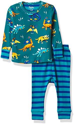 Hatley Organic Cotton Pyjama Sets Juego de Pijama, Superhéroe Dinosaurios, 3-6 Meses para Bebés