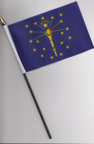 25cm große Handflagge von Indiana, USA