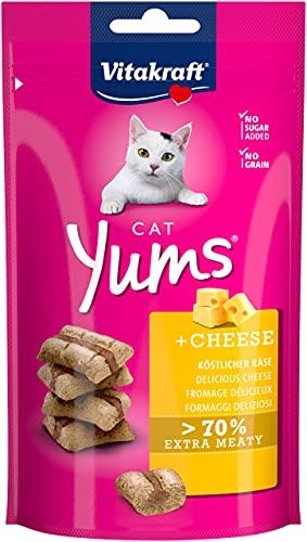 Vitakraft Cat YUMS - Friandise pour Chat au Fromage - Lot de 9 sachets fraîcheur de 40 g