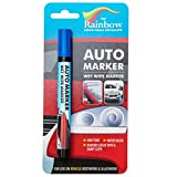 Car Paint Marker Pens Auto Writer Blue - All Surfaces, Windows, Glass, Tire, Metal - Any Automobile, Truck or Bicycle, Water Based Wet Erase Removable Markers Pen