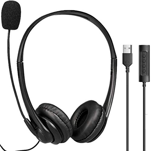 USB Headphones with Microphone for Computer, Laptop Microphone Headset with mic for Desktop, PC, Office, Zoom, Skype, Conference Call headsets