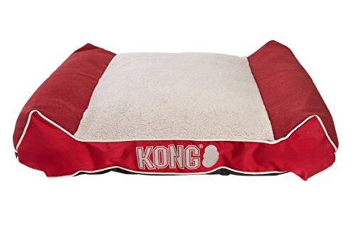 KONG Plush Lounger Dog Bed Red