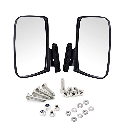 Universal Golf Cart Side View Mirrors Compatible with EzGo Club Car Yamaha, Moveland RHOX Style Accessories