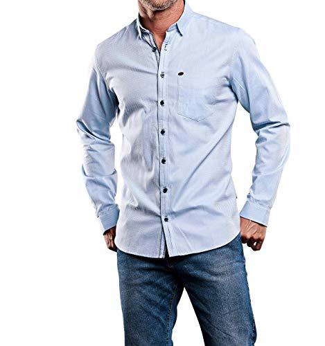 engbers Herren modisches Hemd, 28409, Blau in Größe S