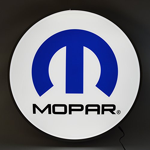 Neonetics Mopar Omega M 15 Inch Diameter Backlit Led Lighted Sign with Real Aluminum Rim-7MOPAR